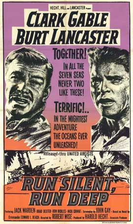 Run Silent, Run Deep - 11 x 17 Movie Poster - Style B