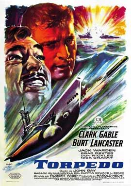Run Silent, Run Deep - 11 x 17 Movie Poster - Spanish Style A