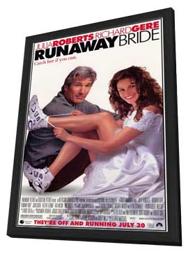 Runaway Bride - 11 x 17 Movie Poster - Style A - in Deluxe Wood Frame