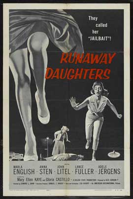 Runaway Daughters - 11 x 17 Movie Poster - Style B
