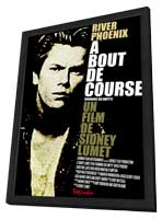 Running on Empty - 27 x 40 Movie Poster - French Style A - in Deluxe Wood Frame