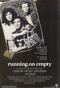 Running on Empty - 43 x 62 Movie Poster - Bus Shelter Style A