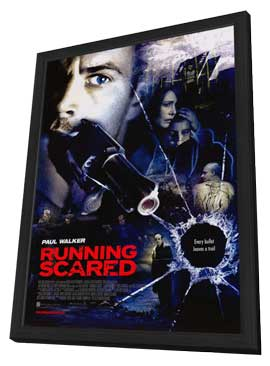 Running Scared - 11 x 17 Movie Poster - Style A - in Deluxe Wood Frame