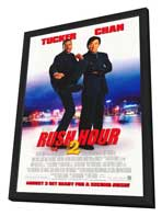 Rush Hour 2 - 27 x 40 Movie Poster - Style A - in Deluxe Wood Frame