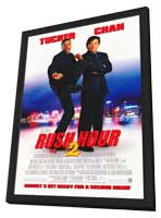 Rush Hour 2 - 11 x 17 Movie Poster - Style A - in Deluxe Wood Frame
