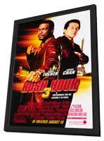 Rush Hour 3 - 27 x 40 Movie Poster - Style C - in Deluxe Wood Frame