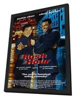 Rush Hour - 11 x 17 Movie Poster - Style B - in Deluxe Wood Frame