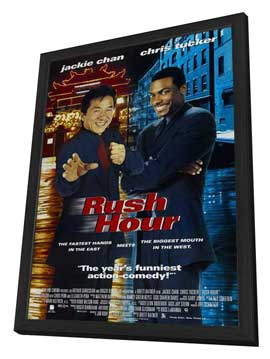 Rush Hour - 27 x 40 Movie Poster - Style B - in Deluxe Wood Frame