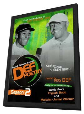 Russell Simmons Presents Def Poetry (TV) - 11 x 17 TV Poster - Style A - in Deluxe Wood Frame