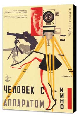 Russian Camera w/ legs - 11 x 17 Movie Poster - Style A - Museum Wrapped Canvas