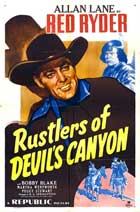 Rustlers of Devil's Canyon - 11 x 17 Movie Poster - Style A