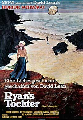 Ryan's Daughter - 11 x 17 Movie Poster - German Style A