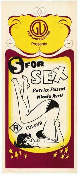 S is for Sex - 11 x 17 Movie Poster - Style A