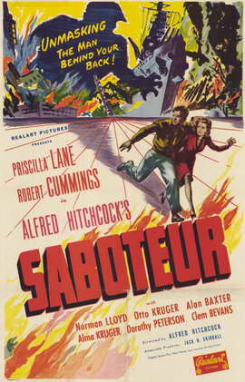 Saboteur - 11 x 17 Movie Poster - Style A