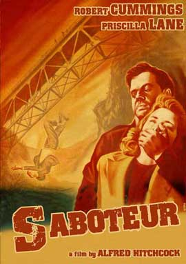 Saboteur - 11 x 17 Movie Poster - Style B