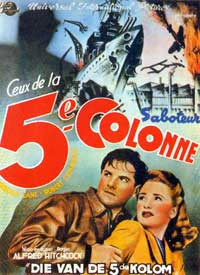 Saboteur - 11 x 17 Movie Poster - French Style B