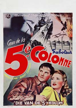 Saboteur - 11 x 17 Movie Poster - Belgian Style A
