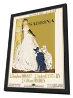 Sabrina - 11 x 17 Movie Poster - Italian Style B - in Deluxe Wood Frame