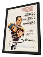 Sabrina - 27 x 40 Movie Poster - UK Style A - in Deluxe Wood Frame