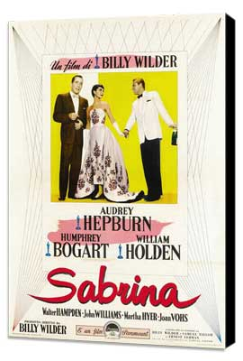 Sabrina - 11 x 17 Movie Poster - Style G - Museum Wrapped Canvas