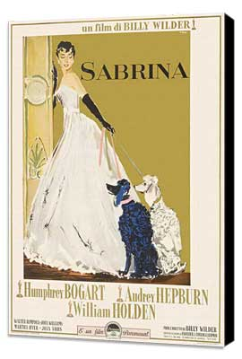 Sabrina - 11 x 17 Movie Poster - Italian Style B - Museum Wrapped Canvas
