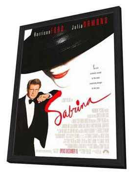 Sabrina - 27 x 40 Movie Poster - Style A - in Deluxe Wood Frame