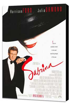 Sabrina - 27 x 40 Movie Poster - Style A - Museum Wrapped Canvas