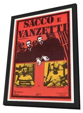 Sacco & Vanzetti - 27 x 40 Movie Poster - French Style A - in Deluxe Wood Frame