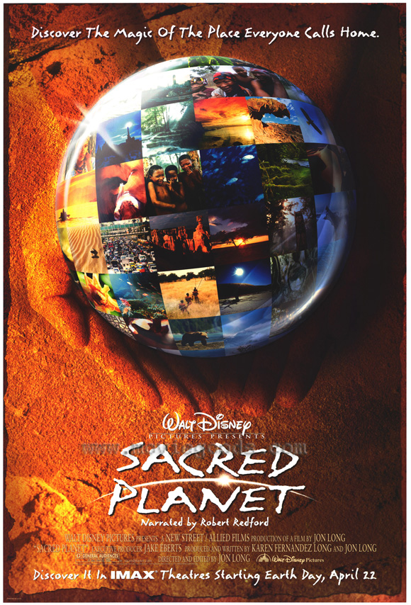 sacred planet Directed by jon long, this 45-minute imax production travels across the globe  not only in an attempt to instill a proper sense of awe, but also to encourage the.