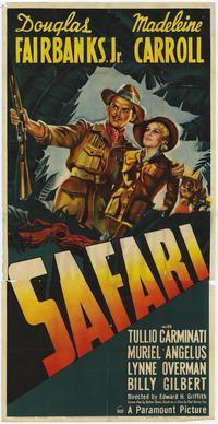 Safari - 11 x 17 Movie Poster - Style A