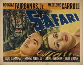 Safari - 22 x 28 Movie Poster - Half Sheet Style A