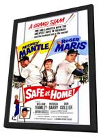 Safe At Home - 11 x 17 Movie Poster - Style A - in Deluxe Wood Frame