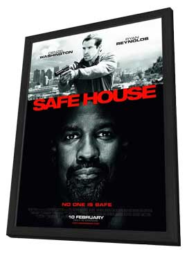 Safe House - 27 x 40 Movie Poster - Style A - in Deluxe Wood Frame