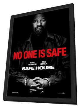 Safe House - 11 x 17 Movie Poster - Style B - in Deluxe Wood Frame