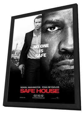 Safe House - 11 x 17 Movie Poster - Style C - in Deluxe Wood Frame