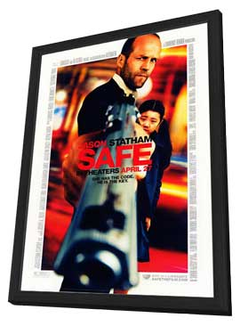 Safe - 11 x 17 Movie Poster - Style B - in Deluxe Wood Frame
