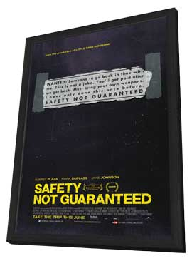 Safety Not Guaranteed - 27 x 40 Movie Poster - Style A - in Deluxe Wood Frame