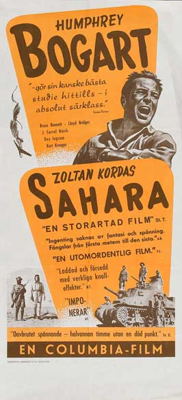Sahara - 20 x 40 Movie Poster - Sweden Style A