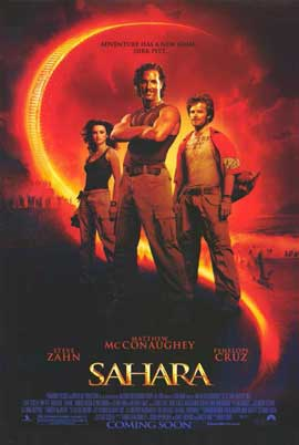 Sahara - 11 x 17 Movie Poster - Style A