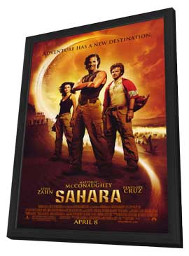 Sahara - 11 x 17 Movie Poster - Style B - in Deluxe Wood Frame