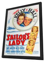 Sailor's Lady - 27 x 40 Movie Poster - Style A - in Deluxe Wood Frame