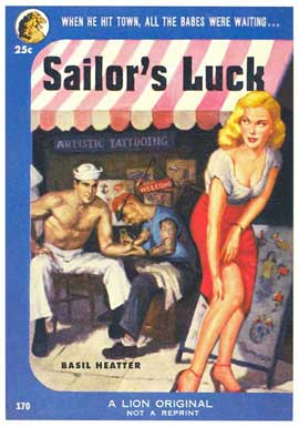 Sailor's Luck - 11 x 17 Retro Book Cover Poster