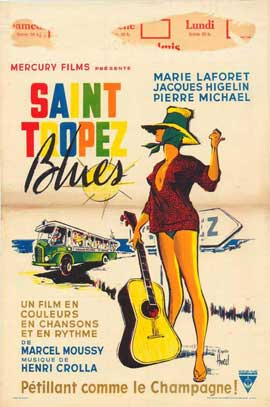 Saint Tropez Blues - 27 x 40 Movie Poster - Belgian Style A