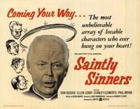 Saintly Sinners - 22 x 28 Movie Poster - Half Sheet Style A