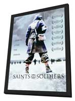 Saints and Soldiers - 27 x 40 Movie Poster - Style A - in Deluxe Wood Frame