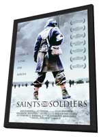 Saints and Soldiers - 11 x 17 Movie Poster - Style A - in Deluxe Wood Frame