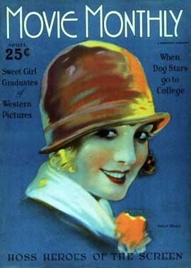 Sally Rand - 27 x 40 Movie Poster - Movie Monthly Magazine Cover 1920's