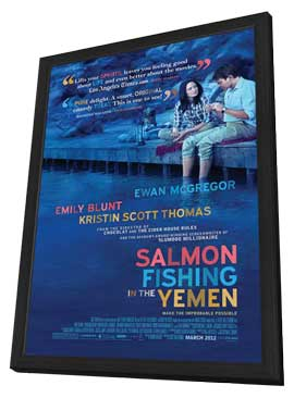 Salmon Fishing in the Yemen - 27 x 40 Movie Poster - Style A - in Deluxe Wood Frame