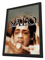 Salo, or the 120 Days of Sodom - 27 x 40 Movie Poster - Style A - in Deluxe Wood Frame