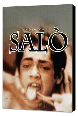 Salo, or the 120 Days of Sodom - 27 x 40 Movie Poster - Style A - Museum Wrapped Canvas